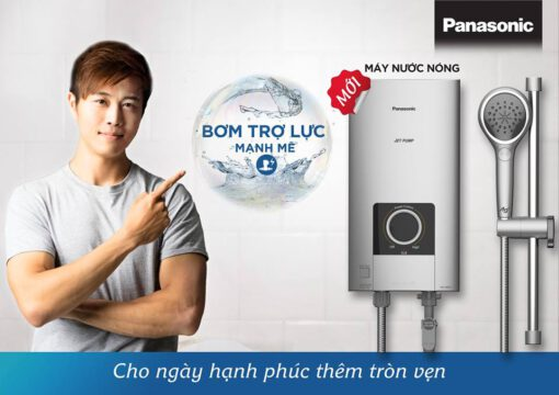 Máy nước nóng trực tiếp Panasonic DH-4NP1VS - màu bạc 4