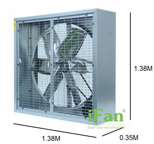 Quạt thông gió gián tiếp IFan 54D 3
