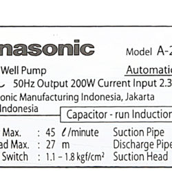Máy bơm nước tăng áp Panasonic 200W A-200JAK 15