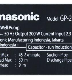 Máy Bơm Nước Đẩy Cao Panasonic 200W GP-200JXK – SV5 15