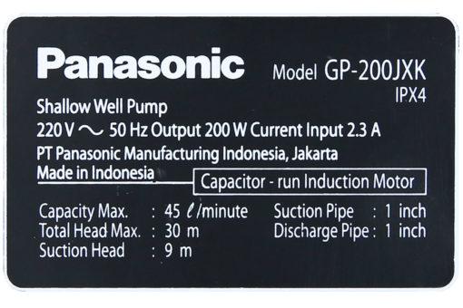 Máy Bơm Nước Đẩy Cao Panasonic 200W GP-200JXK – SV5 8