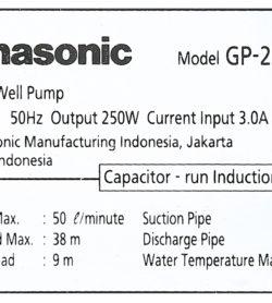 Máy Bơm Nước Đẩy Cao Panasonic 250W GP-250JXK 13