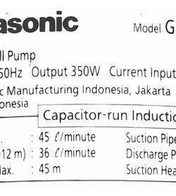 Máy bơm nước đẩy cao Panasonic 350W GP-350JA-SV5 15