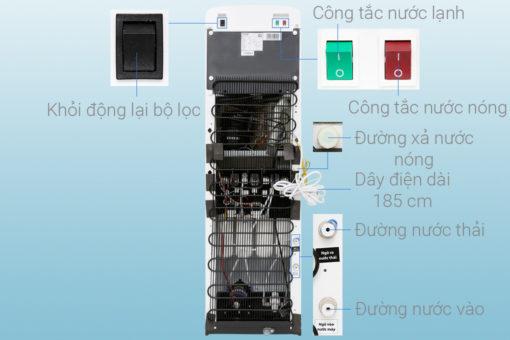 Máy lọc nước NÓNG - LẠNH RO Toshiba TWP-W1643SV - 4 lõi 5