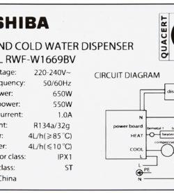 Máy nước nóng lạnh Toshiba RWF-W1669BV - ĐEN 17