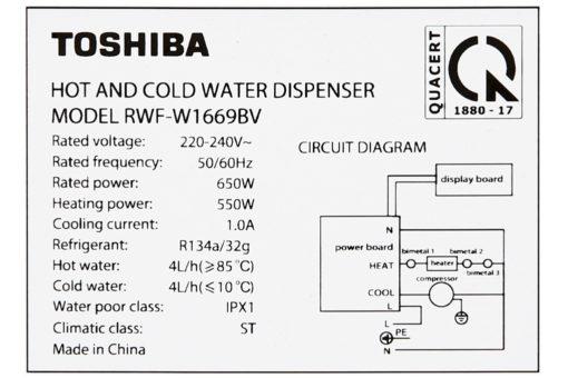 Máy nước nóng lạnh Toshiba RWF-W1669BV - ĐEN 9