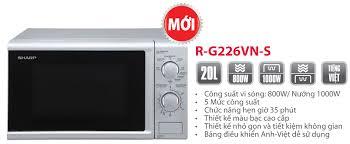 Lò vi sóng có nướng Sharp R-G226VN-M 20 Lít 2